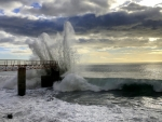 Pier, Wave and Splash