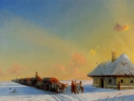 Winter Carts in the Ukrainian Steppe