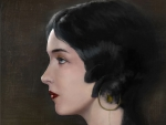 Profile of a lady