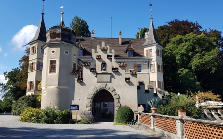 Castle in Seeburg, Germany - Europe, Germany, castle, architecture, gate, bell