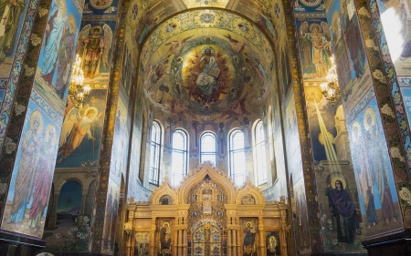 Cathedral in St. Petersburg, Russia - Russia, church, cathedral, dome, St Petersburg, interior