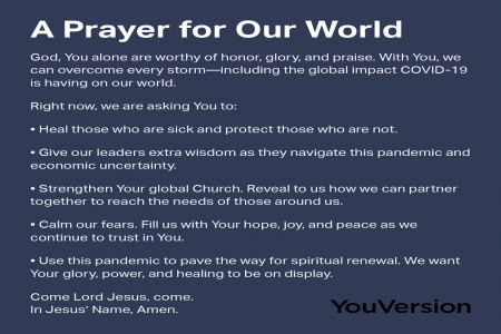 A Prayer for Our World - Share, World, COVID19, Others, With, Prayer