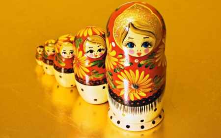 Matryoshka Dolls - dolls, decorative, wooden, matryoshka