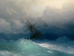A ship on stormy seas