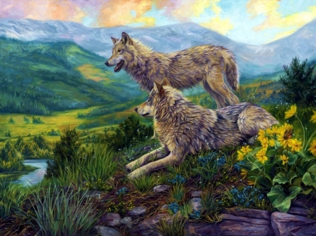 Wolves - nature, wolf, wolves, animals, fantasy