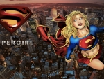 Supergirl Over City