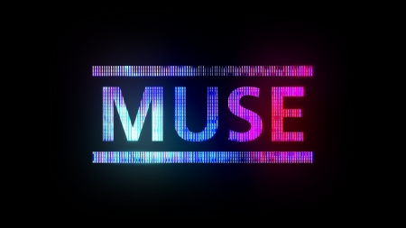♥ - music, black, neon, pink, muse, blue, card, word