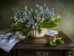 Forget-me-not Still Life