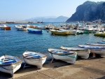 Boats in Capri, Italy