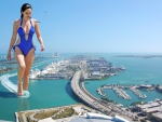 Giantess Kelly Brook in a Swimsuit