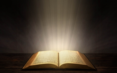 Book of Light - God, book, Bible, light, Word