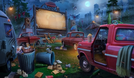:) - car, trash, stuff, cinematograf, pink, blue, luminos, game, olga nikonova, fantasy
