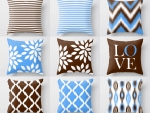 A set of cushions_brown-blue