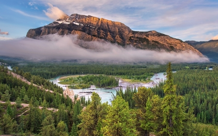 Bow River, Canada - river, National Park, Canada, mountains, Banff