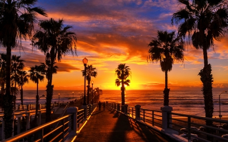 Sunset At The Oceanside Pier Of San Diego Sunsets Nature Background Wallpapers On Desktop Nexus Image 2551124