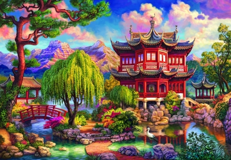 1 - architecture, beautiful, paintings, houses