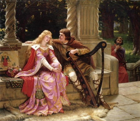 Tristan_and_Isolde - love, art, Painters, Tristan and Isolda, romance, Leighton, painting