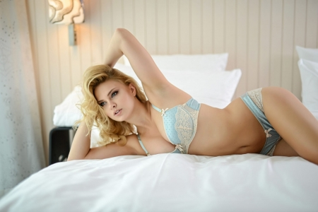 Carla Sonre - Model, Lingerie, Bed, Beauty, Hot