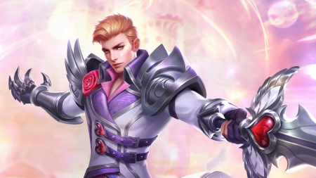 Alucard - alucard, fantasy, romantic, luminos, game, valentine, man, pink, mobile legends