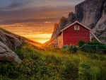 Dawn over Lofoten islands, Norway