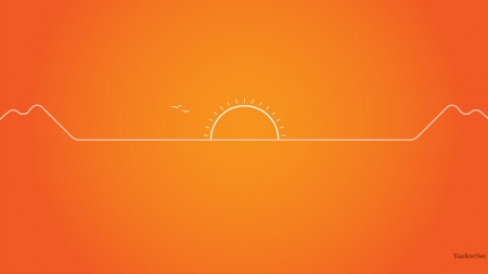 other - sunset, windows wallpaper, orange, os