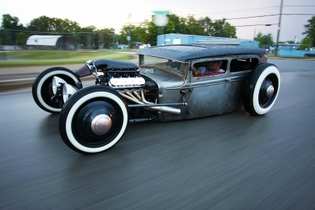 Ford Hot Rod (Asphalt Scraper) - cars, road, hot rod, ford