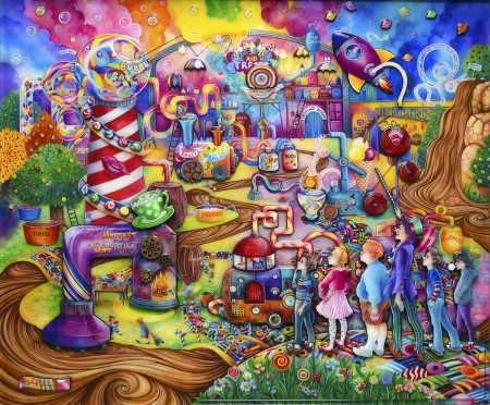 Sweet and treats - art, colorful, fantasy, sweet, kerry darlington
