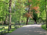 Park in Krakow, Poland