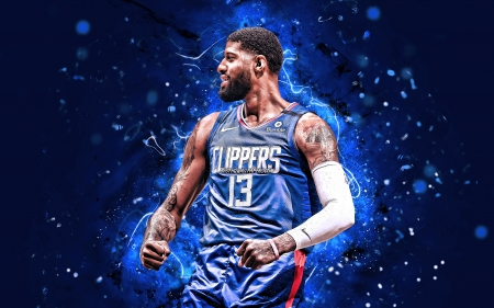 Paul George - paul, nba, sport, la clippers, basketball, clippers, george, paul george, los angeles clippers, blue