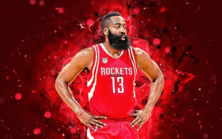 James Harden - basketball, james edward harden jr, american, harden, james harden, red, rockets, houston, nba, sport, houston rockets