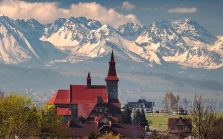 Church in Poland - Poland, church, Tatry, mountains