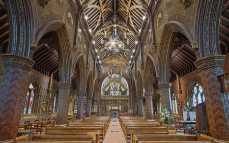 Church Interior - religious, interior, Christianity, church