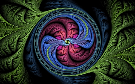Fractal - colors, swirl, abstract, fractal, digital art