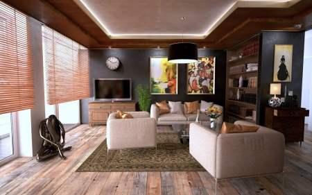 Living Room - home, furniture, interior, living room