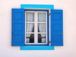 Blue Window in Greece