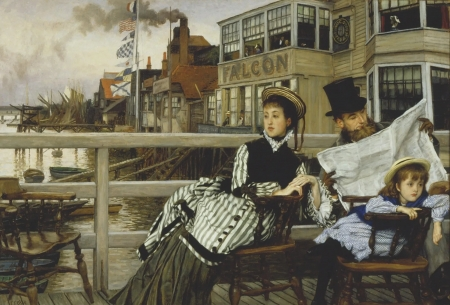 Family - people, painting, man, woman, james tissot, art, family, mother, father, water, child