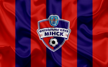 FC Minsk - minsk football club, football club minsk, minsk, soccer, minsk fc, crest, emblem, flag, sport, logo, belarus, belarusian, football, red and navy blue