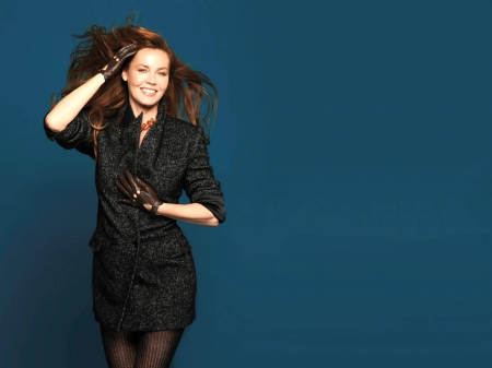 Connie Nielsen - dress, model, Connie Nielsen, beautiful, smile, hair, Connie, gloves, stockings, actress, pantyhose, wallpaper, 2020, hot, Nielsen