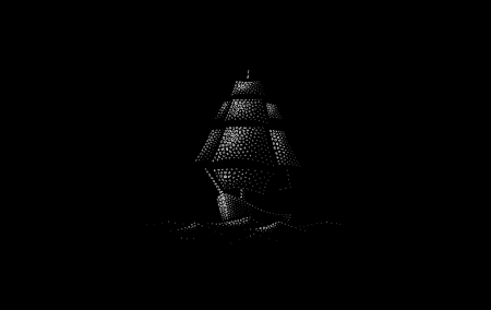 Ship - vara, bw, ship, black, summer, white, minimalism