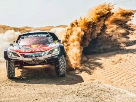 car race in desert - desert sand, car, photography, sand, desert