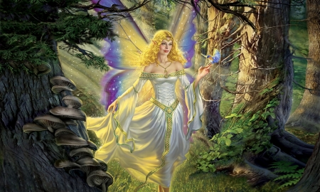 Forest Fairy - Fantasy, Fairy, forest, enchanting, dreamy, magical, Glowing