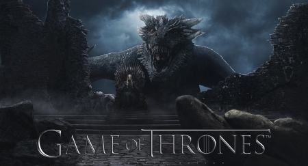Game of Thrones (2011 - 2019) - poster, dark, game of thrones, tv series, daenerys targaryen, black, dragon