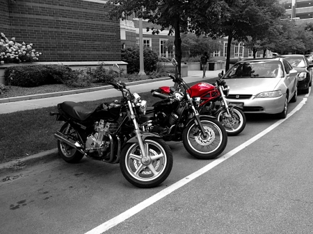 Eye catching Motorbikes - cars, red, bikes, street