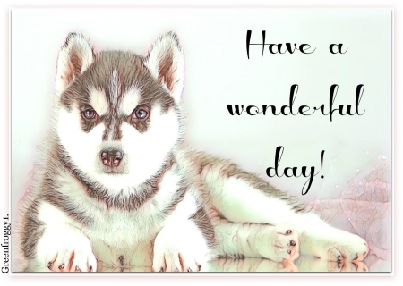 WONDERFUL DAY - DAY, COMMENT, WONDERFUL, CARD