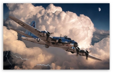 b17 bomber - aircraft, usa, ww11, flying
