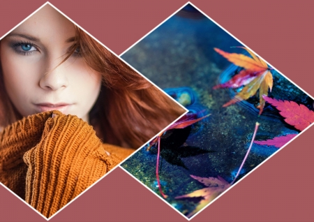 Autumn girl - nostalgic, pretty, special, autumn, girl, HD, collage, woman