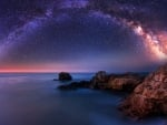 Our Milky Way Over the Sea