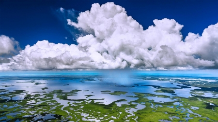 Everglades Showers - nature, forces of nature, clouds, oceans, cool, fun