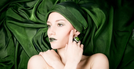 green beauty - cool, fashion, people, models, makeup, beauty