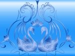 Wild Swans In Blue